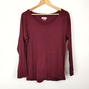 TNA | Deep Red Long Sleeve Ladies Small Top